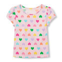 Hosiery Round Neck Girls Printed Kids Top, 2-8 years