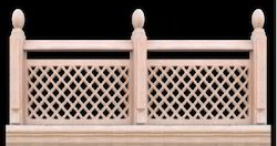 Crafted Stone Jali Railings