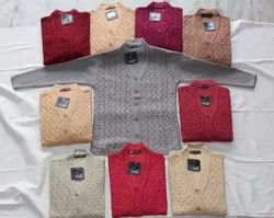V-Neck Knitted Self Cardigans