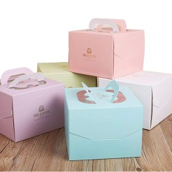 Printed Paper Cake Box