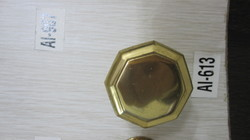 Brass Door Knobs on Black Plates