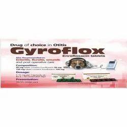 Gyroflox Enrofloxacin Tablets, For Clinical, Packaging Type: Blister