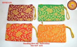 HandBags Rawsilk Embroidery