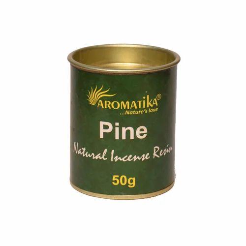 Resin Pine Incense Resin 50 Gram Jar Pack - Mehi International, New