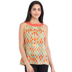 Cottinfab Women's Printed Sleeveless Top