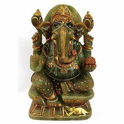 Ceramic Ganesha Meenakari Statue