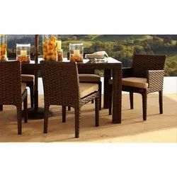 Garderin Wicker Modern Dining Chair and Table Set