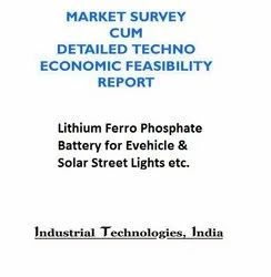 Project Report on Lithium Ferro Phosphate Battery for Evehicle & Solar Street Lights etc