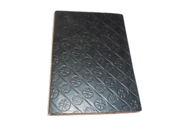 Black Embossed Handmade Leather Notebook