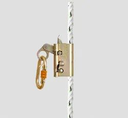 Fall Arrestor with Karabiner and Captive Pin Lock Arrangement