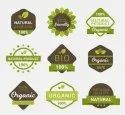 Organic products items printing labels