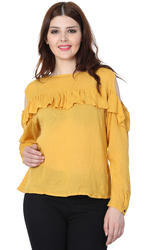 Round Neck Ladies Tops