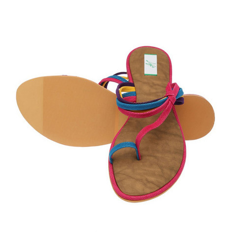 9977352c4 Ladies Flat Leather Slippers at Rs 500  pair