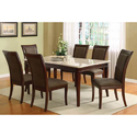 Wooden 6 Seater Granite Dining Table