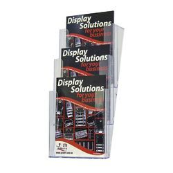 Acrylic 3 Pocket Wall Mounted Brochure Stand