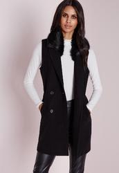 Sleeveless Collar Jacket