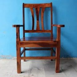 Antique Brown Living Room Wood Dining Chair With Arm Wooden Dining Room Chair, Back Style: High Back, 18x18x18inch