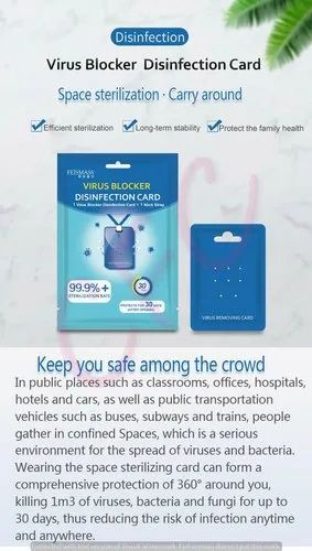 Virus Blocker Disinfection Card