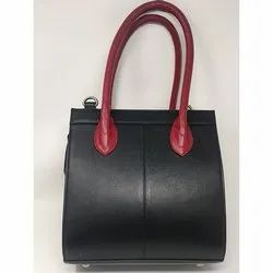 Dual Color Leather Side Bag