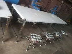 Silver Stainless Steel Canteen Table