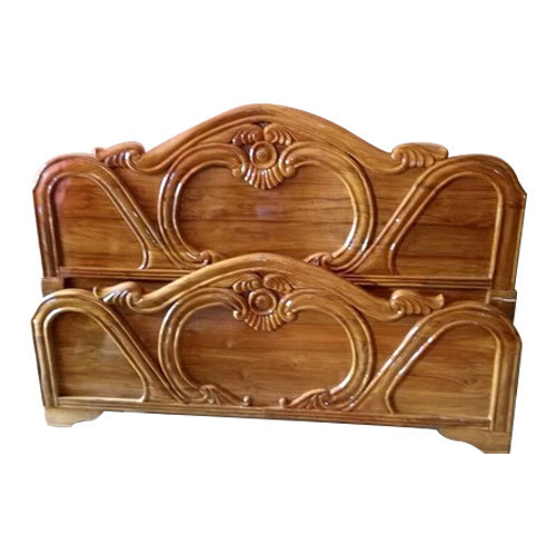 Teak Wood Wooden Bed Headboard, Bed Size: 6u0027 *6u0027 .5