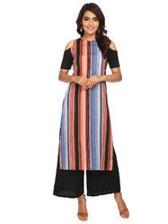 Stripe Printed Long Kurta