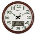 Analog Digital Wall Clock with Luminous Dial