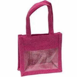Colored Cosmetic Jute Bag