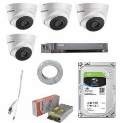 HIKVISION Full HD 5MP Cameras with 4CH DVR, 4 Dome Cameras COMBO, For Indoor Use