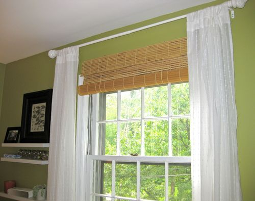 Glossy Bamboo Roll Up Blinds