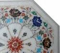 Octagonal Marble Stone Inlaid Coffee Table Top