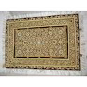 Golden And Coffee Antique Jewel Stone Carpet