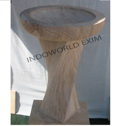 Twisted Leg And Round Top Bird Bath