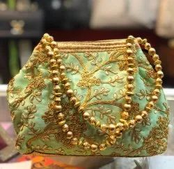 Multicolor Party Wear Hand Embroidery Bag