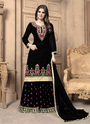 Embroidery Work Georgette Sharara Suits For Party