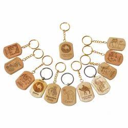 Wooden Mix Keychain