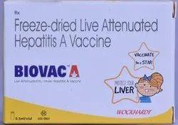 Freeze-Dried Live Attenuated Hepatitis A Vaccine (Biovac A)