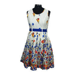 Girls Printed Western Wear Dress