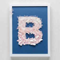 Blue Bark Paper Hanging Frame