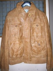 Men Hand Painted Leather Jacket