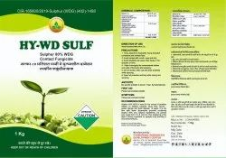 Greenfert Sulphur 80% WDG Contact Fungicide, For Agriculture, Packet