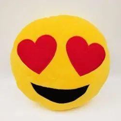 Embroidery Smiley Cushions with Fiber Filling