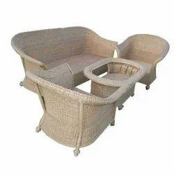 Universal Furniture Light Brown Bamboo Cane Sofa Set