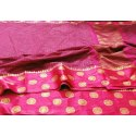 Printed Party Wear Organza Silk Saree, 5.5 m (separate blouse piece), Packaging Type: Plastic Bag