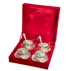Silver Plated Tea Cup Set