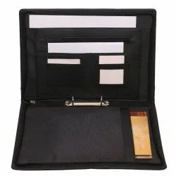 Professional Executive Waterproof Leather Certificate and Documents Organizer File with Pockets Zip