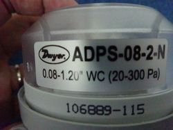 Dwyer ADPS-08-2-N Adjustable Differential Pressure Switch