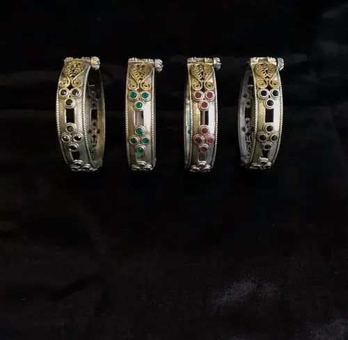 Dual Tone Antique Bangles