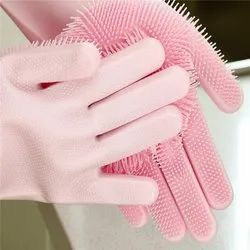 Full Finger Unisex Sillicon Hand Gloves, for Shipping Handling, Size: Free Size