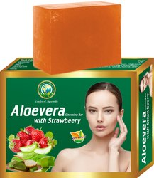 Aloevera with Strawberry Cleansing Bar